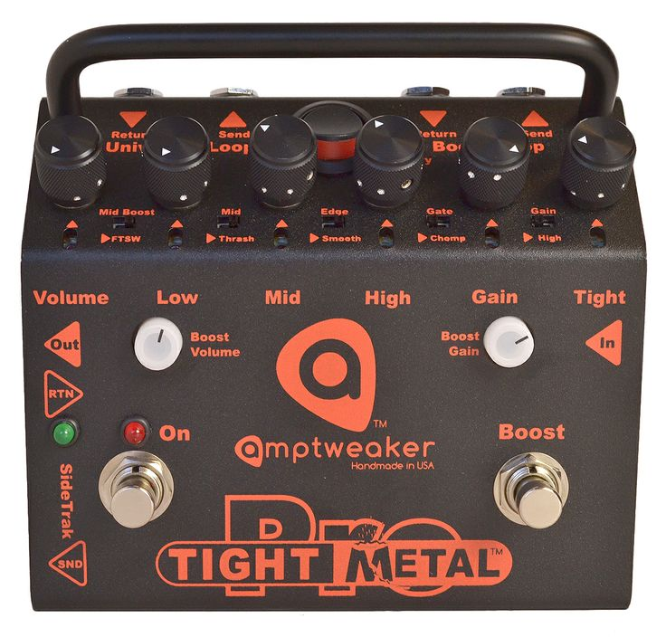 The monster of all metal distortion pedals, the Amptweaker TightMetal Pro is a uber versatile pedal for all metal styles.