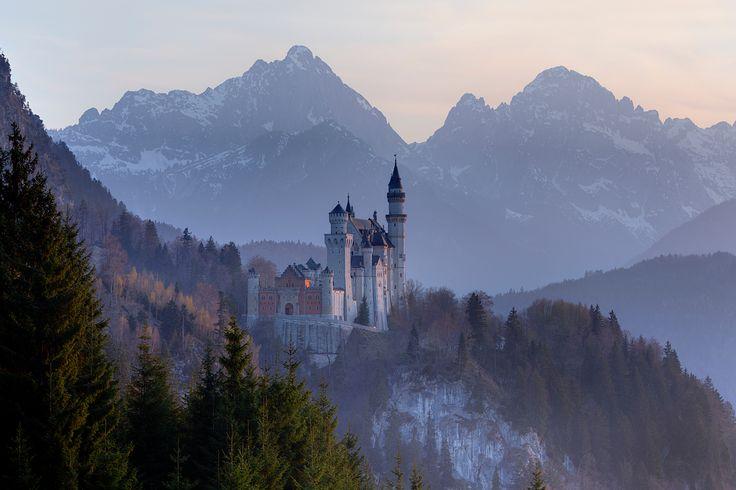 Castle Neu Schwanstein, Bavaria, Germany by Ernst Merkhofer