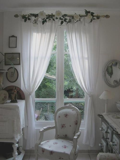shabby dream love the window treatment my romantic. Black Bedroom Furniture Sets. Home Design Ideas