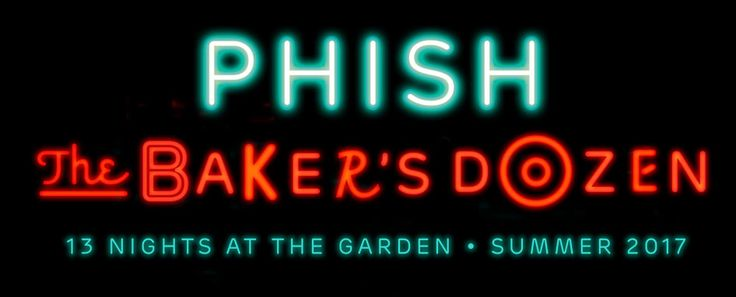 We're excited to announce The Baker's Dozen, a 13-night run at New York City's Madison Square Garden, beginning Friday, July 21 through Sunday, August 6. The Baker's Dozen brings the band's total performances at The Garden to 52 in the years since their December of 1994 venue debut. Tickets to the The Baker's Dozen will