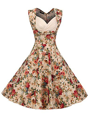 ACEVOG Women's 1950s V Neck Vintage Cut Out Retro Party Cocktail Swing Dresses - http://darrenblogs.com/2016/06/acevog-womens-1950s-v-neck-vintage-cut-out-retro-party-cocktail-swing-dresses/