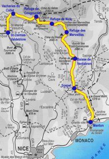 Itinéraire Traversée du Mercantour