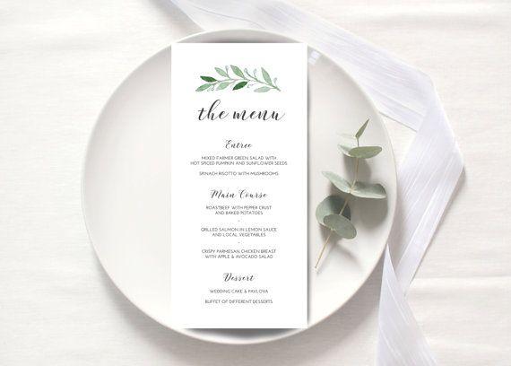 The 18 best menü/isim kartları images on Pinterest | Wedding dinner ...