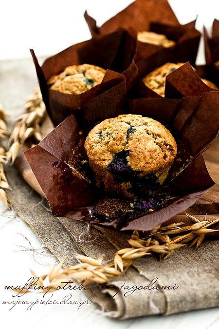 Muffiny otrębowe z jagodami
