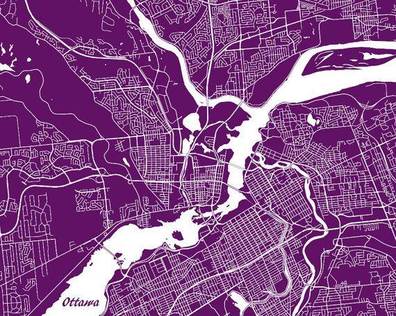 The 25 best ottawa map ideas on pinterest ottawa tattoo wall ottawa street map print map of ottawa city street by artprints4all gumiabroncs Gallery