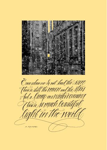 Gold Coast Chicago scene on a winter night with one of my all-time favorite quotes!
