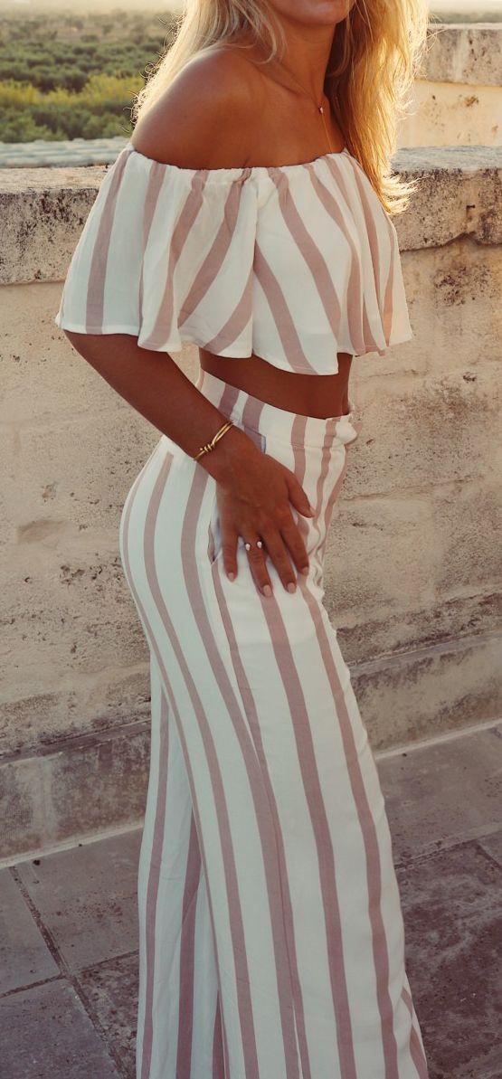 Crop top & palazzo pants