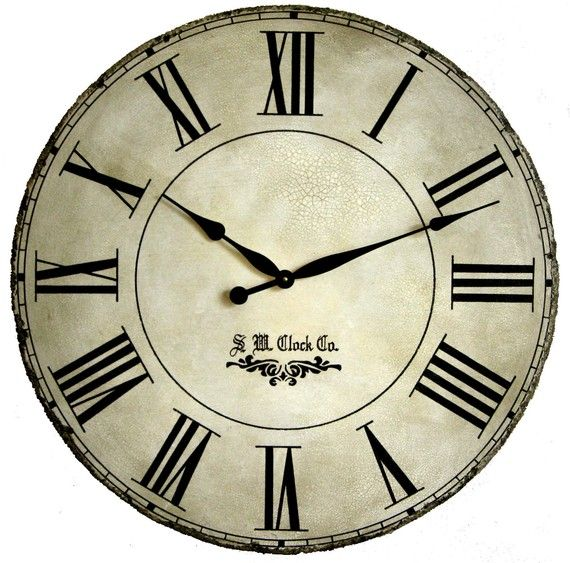 large wall clock 30 inch grand gallery ii antique style tuscan round roman big