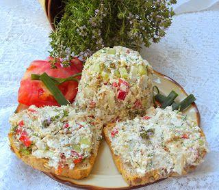 W Mojej Kuchni Lubię..: makrela z twarogiem Strzałkowo,ogórkiem,papryką do...