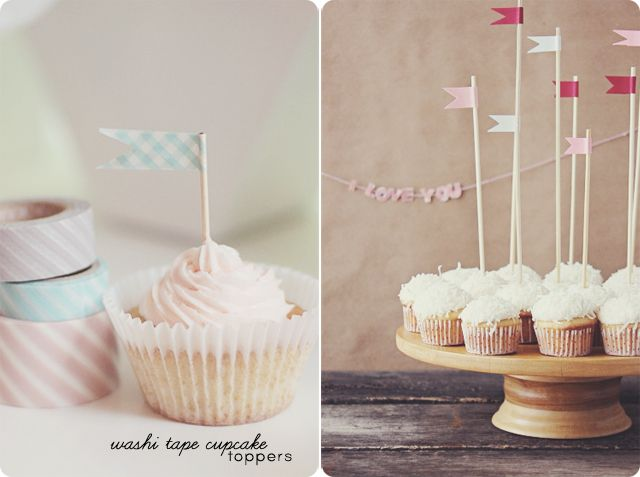 Cupcake toppers with toothpicks or skewers