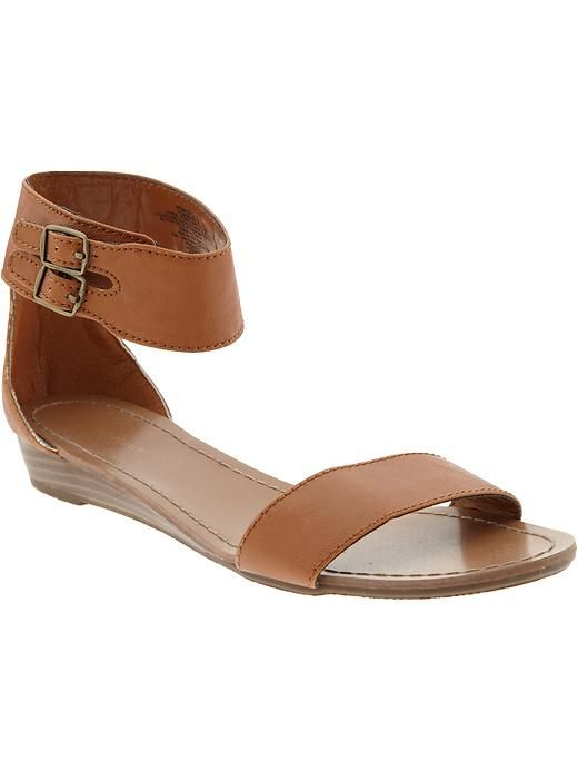 Old Navy Womens Double Buckle Cuffed Sandals inspired by #JenniferAniston.  Shop #DMLooks at