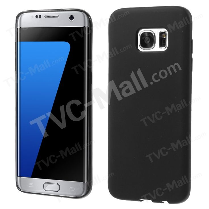 Matte Soft TPU Phone Cover for Samsung Galaxy S7 Edge G935 - Black