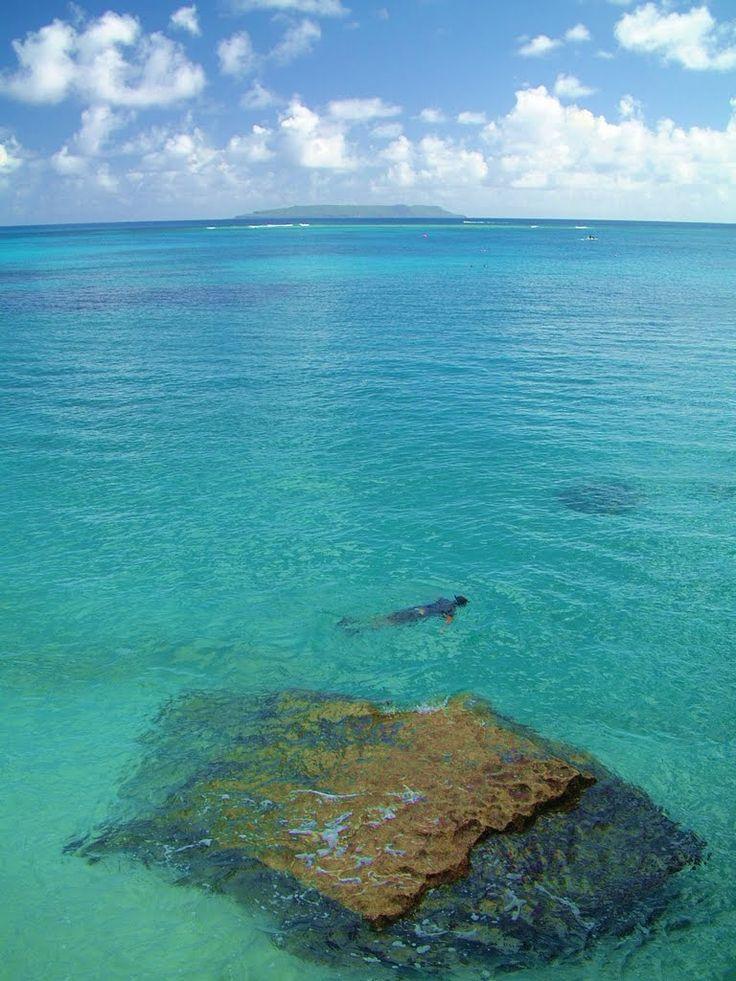 Taga Beach, Tinian Island. The best beach there
