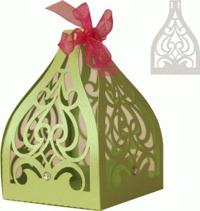 Silhouette Design Store - View Design #75652: abstract filigree favor box