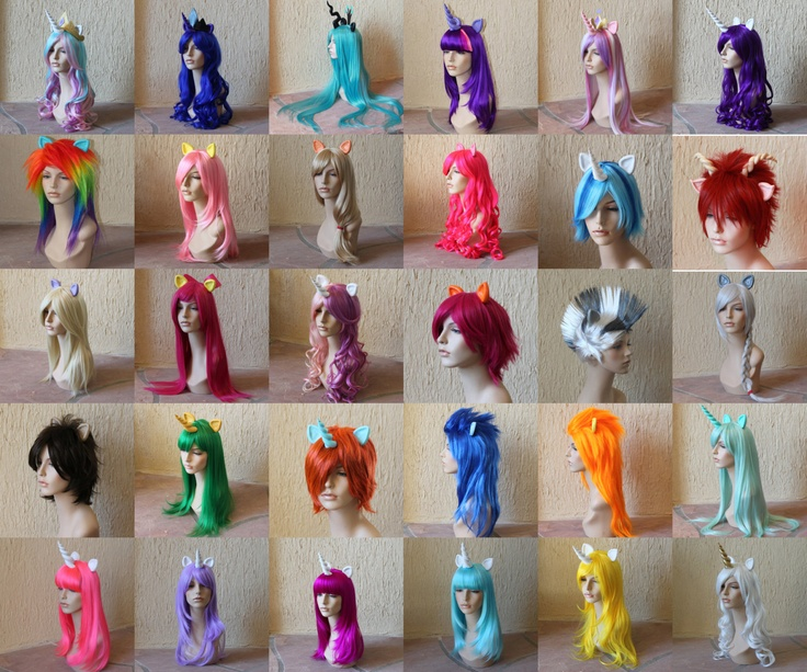 Sweetie Belle cosplay wig - My Little Pony costume / Friendship is Magic / sweetie belle costume / pink and purple wig. $160,00, via Etsy.