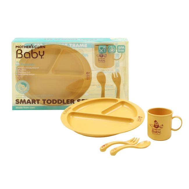 Mother's Corn Smart toddler set is a perfect gift for babies and toddler. It is Eco-friendly, non-toxic, biodegradable, durable, microwave safe! Available at www.kidsberry.com.au