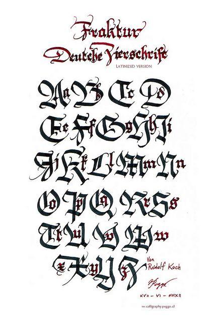 Deutsche Zierschrift Fraktur (study) #alphabet #practice