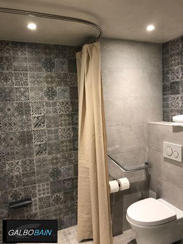 les 25 meilleures id es de la cat gorie barres de rideaux de douche sur pinterest. Black Bedroom Furniture Sets. Home Design Ideas