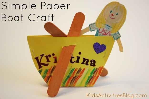 Make a Paper Plate Boat