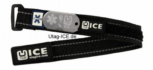U-Tag ICE - Notfall-USB-Armband UTAG - ICE / Sicherheit muss keine Spaßbremse sein ...