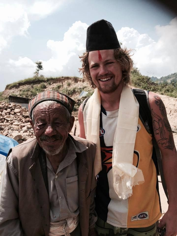 Good ol Andy De Jong from Australia  making his mark on the people of Nepal and visa versa.   This picture was taking only a few months after the devestating earthquake struck in 2015