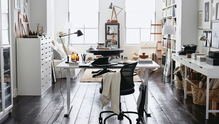 Make a home office space that lends it's style to the rest of your living space.