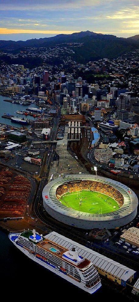 Wellington , Wellington Regional Stadium (Westpac Stadium), New Zealand: https://s-media-cache-ak0.pinimg.com/originals/55/fa/9f/55fa9f77261d75870bf4041def061409.jpg