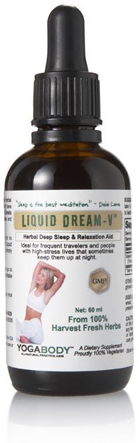 Liquid Dream-V – an all-natural sleep aid. Finally...an herbal sleep remedy that combats the stress and anxiety that keeps you up at night. Great for travel and overcoming jet lag too. http://www.absoluteyogaacademy.com/store/ | #AbsoluteYogaAcademy #YogaTeacherTraining #HotYoga #Ashtanga #Vinyasa #Thailand #Yoga #YogaBody #YogaProducts