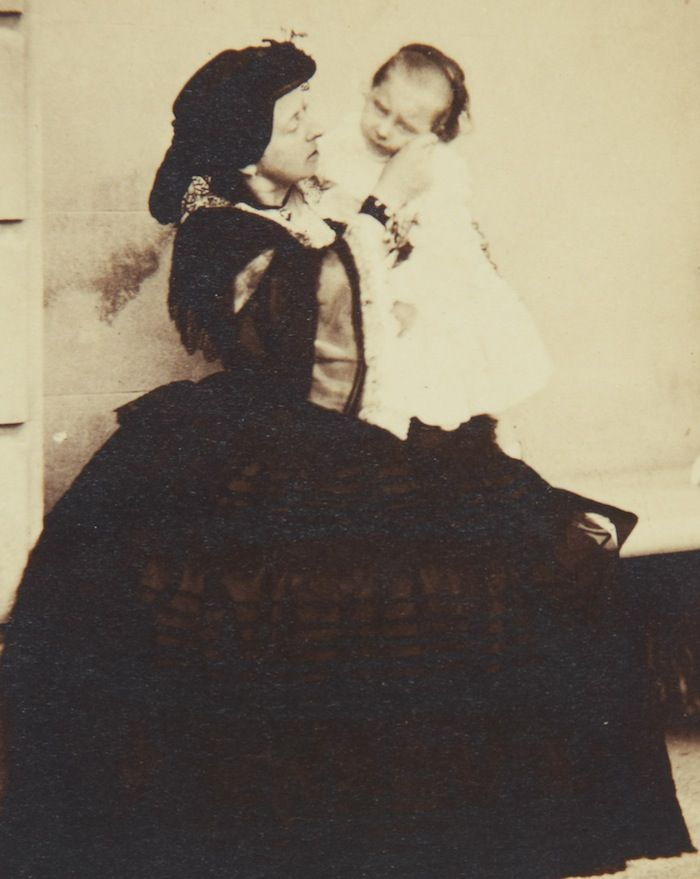 """A nice image of Queen Victoria and her """"baby Bee""""."""