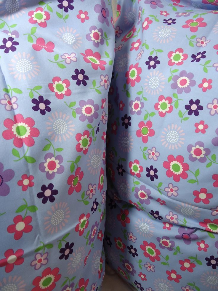 Excited to share the latest addition to my #etsy shop: Sheets and Bedding, Kids Bedding, Pillowcase for kids, Floral pillowcases, 2 Multi-coloured pillowcases, Printed large flowers, Queen size http://etsy.me/2C1seBE #housewares #bedroom #bedding #blue #toddler #floral