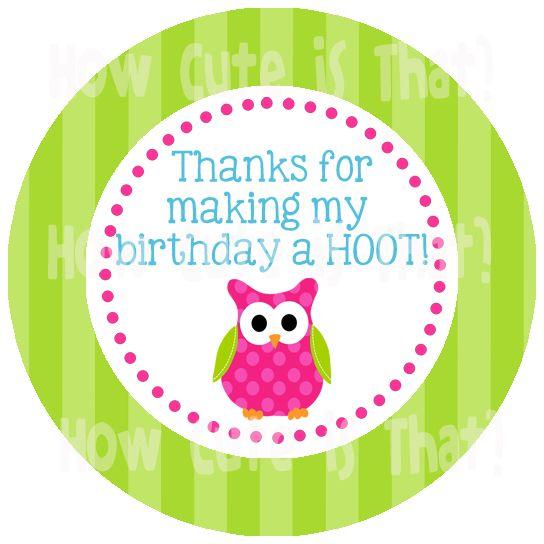 Printable Owl party favor tags #owlbirthday #owlprintables #owlpartyfavor