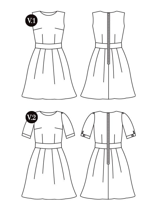 Mortmain dress - gatherkits.com