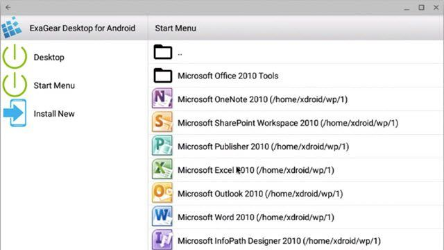 ExaGear Emulador de Windows para Android