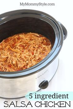 5-Ingredient Crockpot Salsa Chicken -- and one of the 5 is a great homemade taco seasoning. Perfect for D-Burn, and Phase 1 and Phase 3 of the Fast Metabolism Diet.