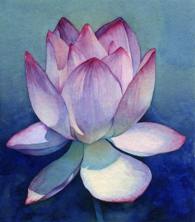 Best 25 lotus flower paintings ideas on pinterest lotus for How to make flower painting