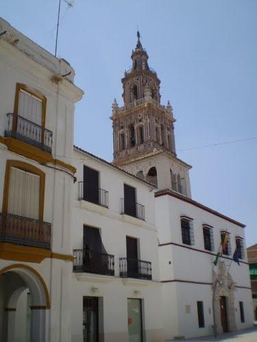 "#Sevilla - #Ecija - Torre de la Iglesia de San Juan.    37° 32' 30.48"" N  5° 4' 52.72"" W  Por cortesía de Marije Aguillo"