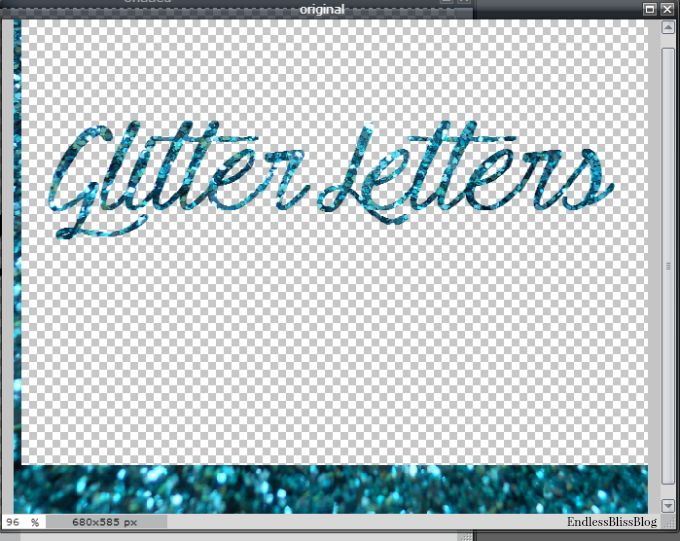 How to Make Glitter Letters (No Photoshop Required).