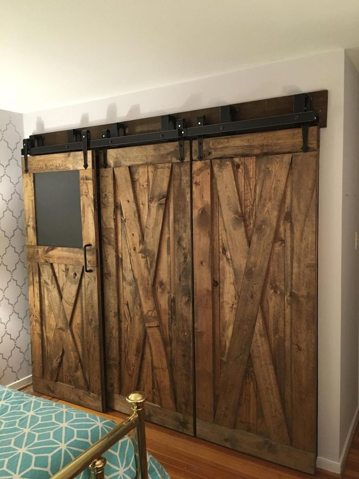 17 best images about bypass barn door inspirations on for Barn door closet hardware