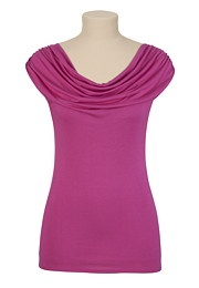 maurices- i own this in white and purple and they are my all time fav shirts because they give me boobs!