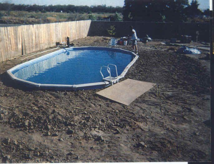 Put above-ground pools in the ground.  built-in look for A LOT cheaper!
