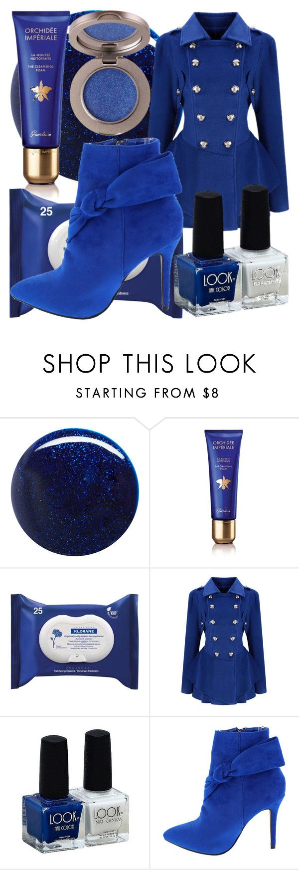 """""""royal blue Christmas Eve church attire"""" by icy-frappe ❤ liked on Polyvore featuring RGB, Guerlain, Klorane and WithChic"""