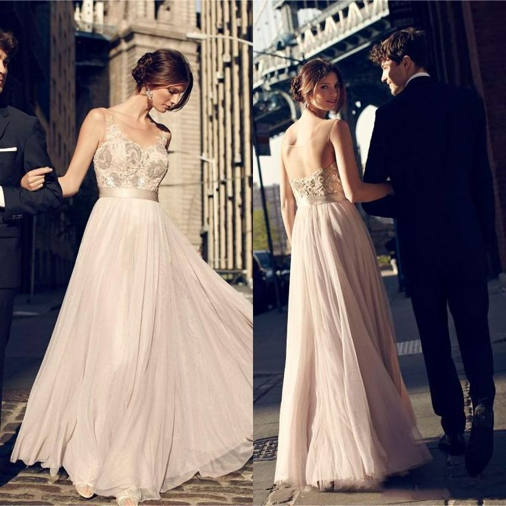 Vintage 2016 Champagne Bridesmaid Dresses Appliques Lace Beaded Sheer Neck Maid Of Honor Gowns A Line Floor Length Tulle Party Dress Dresses For Bridesmaids Dusty Pink Bridesmaid Dresses From Dmronline, $90.16  Dhgate.Com