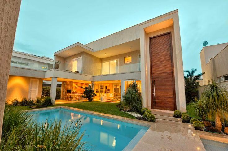Casas homedesign arquitetura 20 fachadas de casas for Fachadas de casas modernas iluminadas