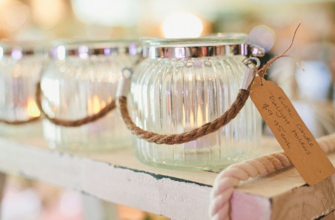Vintage Tea light Holders at Vintage Bride Wedding Fair Brisbane - Seven Silver Swans