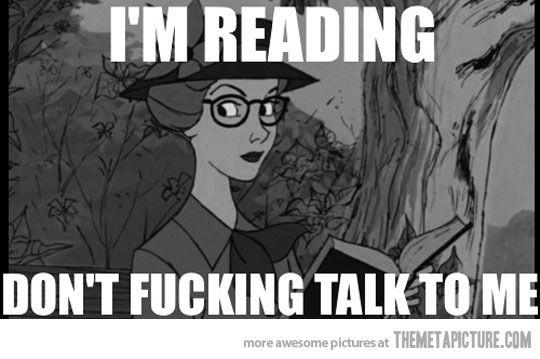 I'm reading…