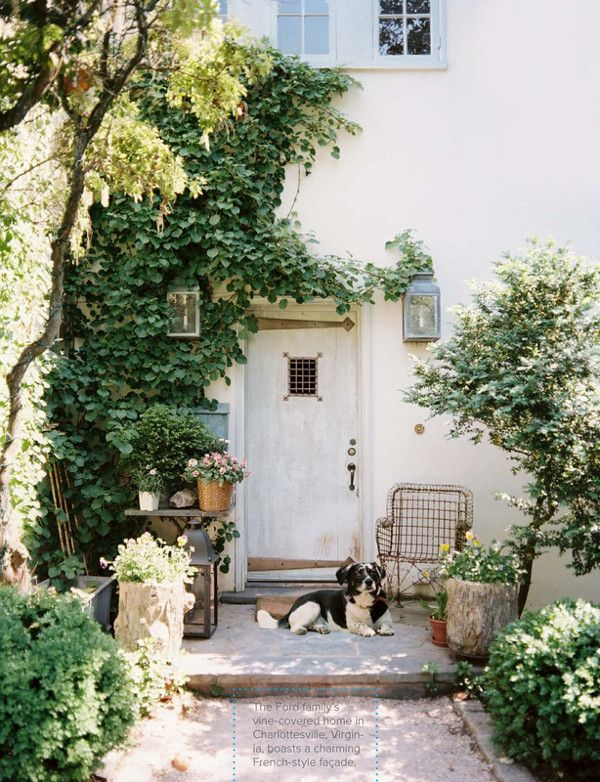Via Lonny Magazine: The Doors, Charlottesvill Virginia, Dreams Home, Gorgeous Gardens, Front Doors, Small Gardens, House, Ford Gardens, French Style