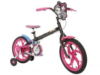 Bicicleta Infantil Caloi Monster High Aro 16 - Freio Cantilever/Tambor