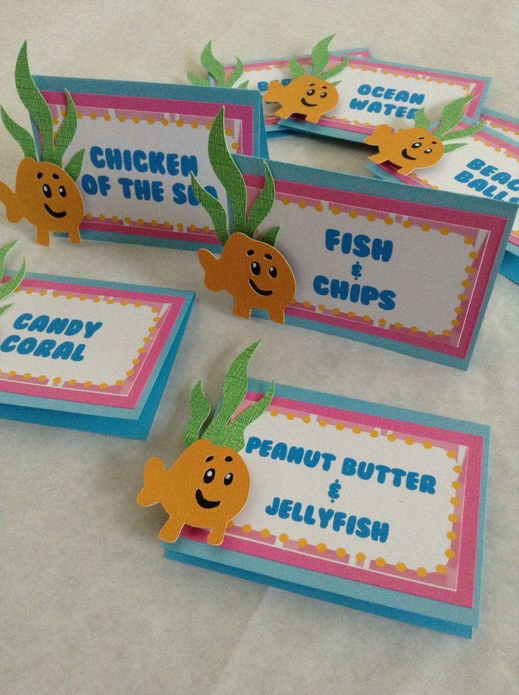 Bubble Guppies Food Labels por DivaDecorations en Etsy