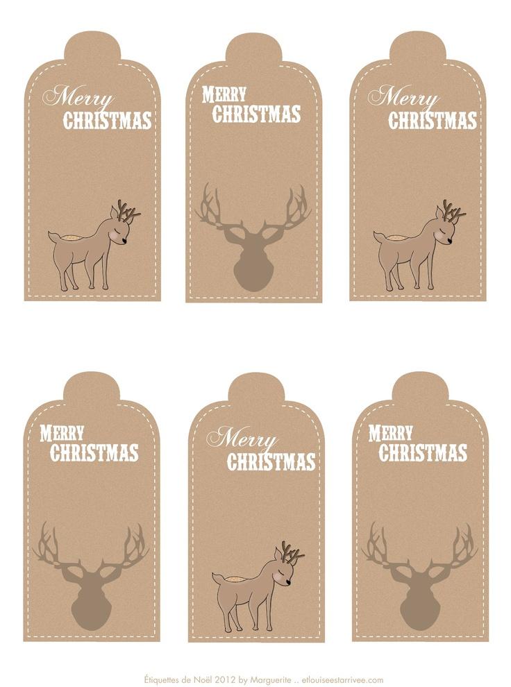 Et Louise est arrivée: Étiquettes de Noël {Printables}