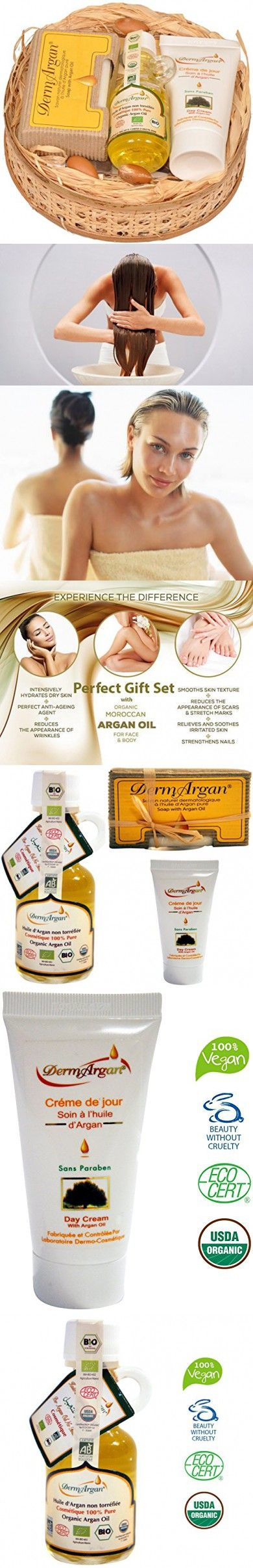 Beauty Gift Set Skincare for her and him 100% PURE & ORGANIC: Pure argan oil (40ml) + Argan Day cream (50ml) + Argan Soap (100g). SPECIALIST SKIN CARE PRODUCTS for face, body and hair
